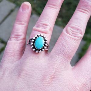 Vintage Native American Navajo Turquoise Ring